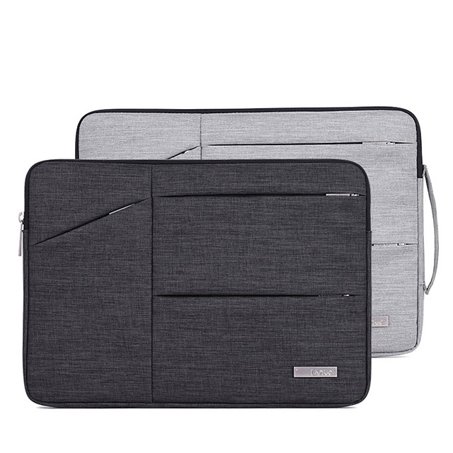 Laptop Sleeve PU Leather Polyurethane Leather Solid Color Unisex Shock Proof 11.6 12 13.3 14 15 Inch