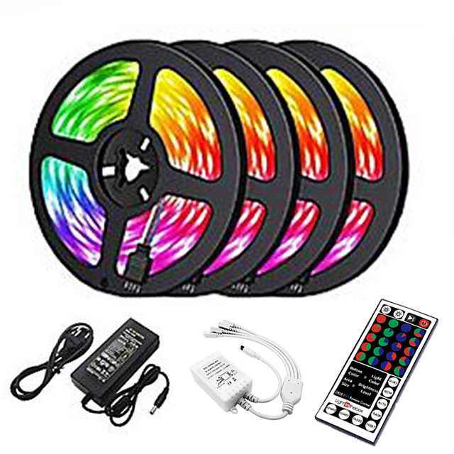20m LED Strip Lights 1200 LEDs 2835 SMD RGB Light Strips Cuttable Linkable Suitable for Vehicles 100-240 V Self-adhesive IP44 4x5m