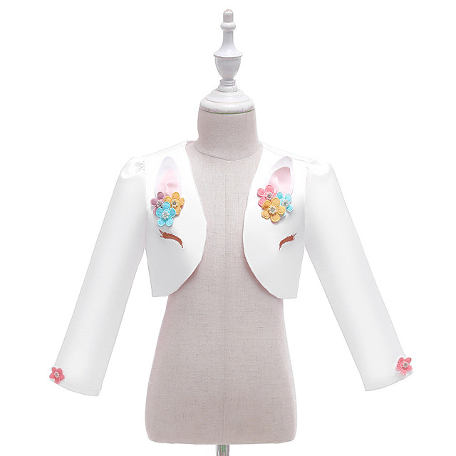 Unicorn Cloak Girls' Movie Cosplay Halloween White / Pink Shawl Christmas Halloween Carnival Polyester / Cotton Polyester