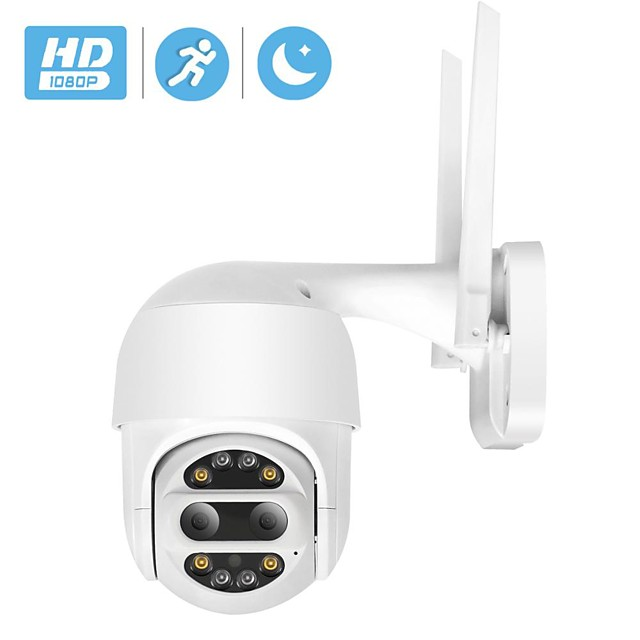 HD 1080P PTZ IP Camera Wifi Outdoor Auto Tracking 2MP CCTV Security Camera 4X Optical Zoom Alarm Dome Wireless Camera IP SD Card