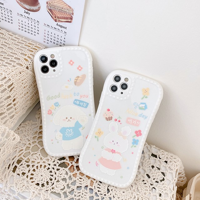 Case For Apple iPhone 7 8 plus SE 2020 X XS XR XS max  11 11 Pro 11 Pro Max Pattern Back Cover  Cartoon TPU cute LOVELY word phrase