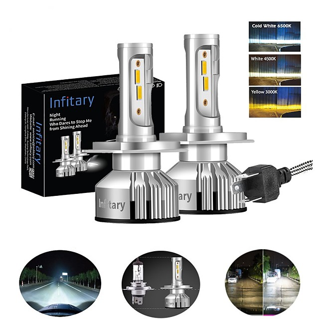 INFITARY 2pcs H7 / H3 / H11 Car Light Bulbs 48 W 8000 lm 4 LED Headlamps For Volkswagen / Toyota / Honda Mazda6 / Odyssey / Civic All years