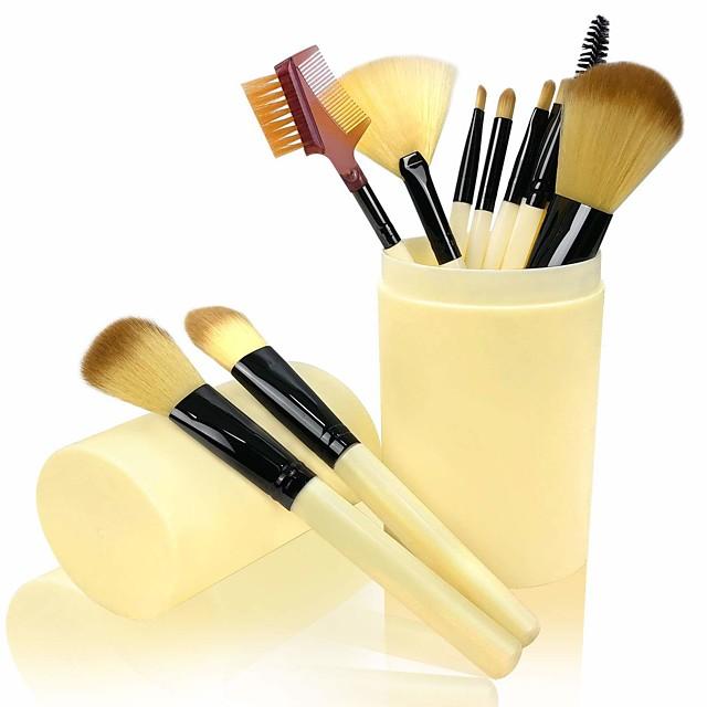 Professional Makeup Brushes 12pcs Professional New Design Full Coverage Travel Size Plastic for Makeup Brush Set