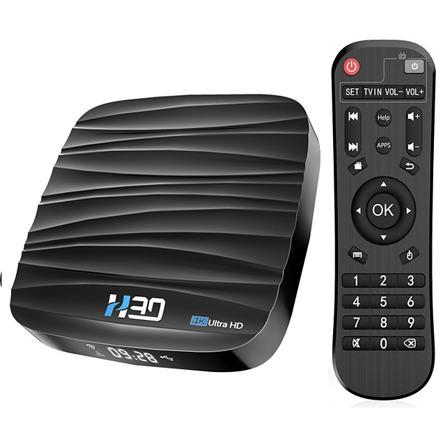 H30 Android TV Box Android 10 4GB 32GB 64GB 4K H.265 Media Player 3D Video 2.4G 5GHz Wifi Bluetooth4.0 RK3318 Smart TV Box Set top box