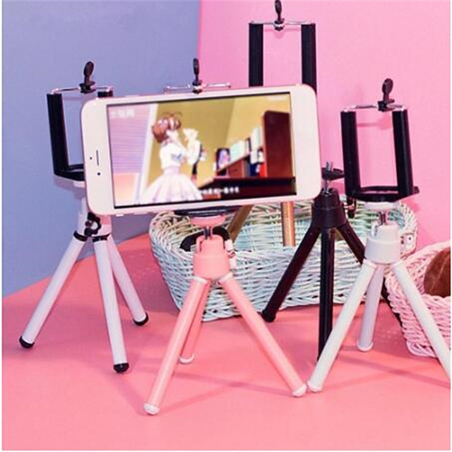 Camera Cell Phone Holder Clip Desktop Photography Telescopic Tripod Small Digital SLR Camera Mobile Phone Holder Stand