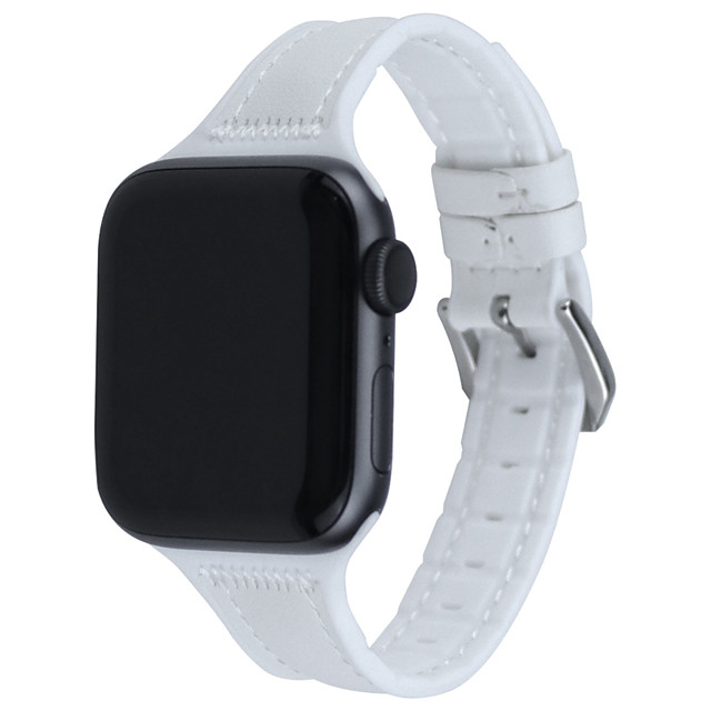Watch Band for Apple Watch Series 6 SE 5 4 3 2 1 Apple Leather Loop Quilted PU Leather Wrist Strap