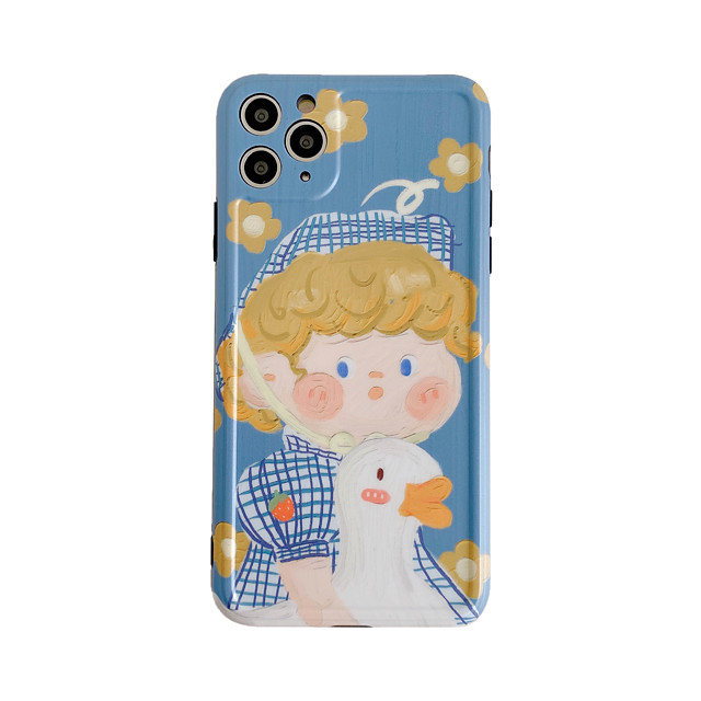Case For iPhone 7 8 7 Plus 8 Plus X XS XR XS Max SE 11 11 Pro 11 Pro Max Pattern Back Cover Animal Cartoon TPU