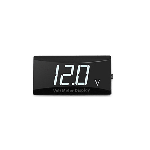 Convenient Portable Waterproof Display Digital LED High Accuracy Voltage Volt Gauge Voltmeter Car Motorcycle Panel Meter