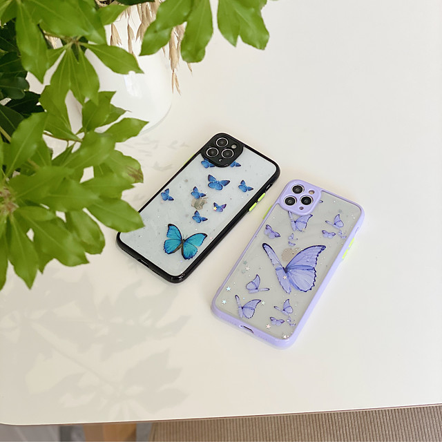 Case For Apple iPhone 7 plus 8 plus XR XS XS MAX X SE 11 11Pro 11ProMax Pattern Back Cover TPU  Butterfly