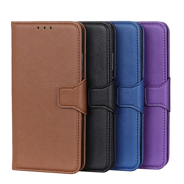 Case For Samsung Galaxy NOTE 20/NOTE 20 PLUS/NOTE 20 ULTRA /M11/A41/A70E/M21/A71 5G/A51 5G/A21S//M01 Card Holder / Shockproof / Dustproof Full Body Cases Solid Colored PU Leather