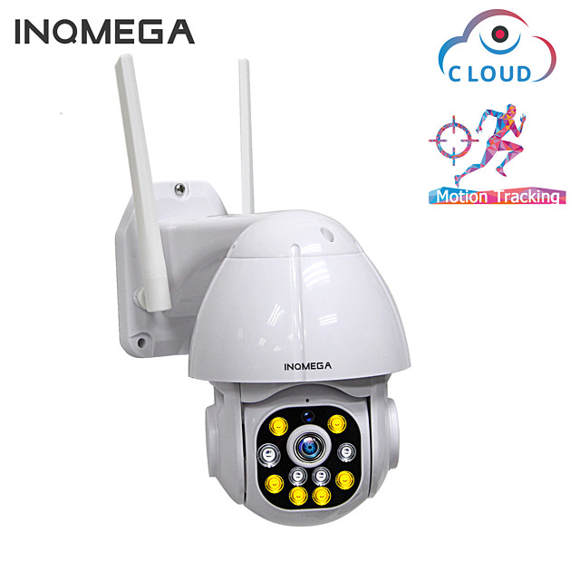 INQMEGA 1.5 Inch Cloud 1080P PTZ Speed Dome Wifi Camera Outdoor 2MP Auto-Tracking Camera Wireless Camera 4X Surveillance IP Cam