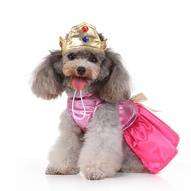 Dog Halloween Costumes Costume Dress Princess Princess Birthday Cute Christmas Party Dog Clothes Breathable Pink Costume Polyester S M L XL