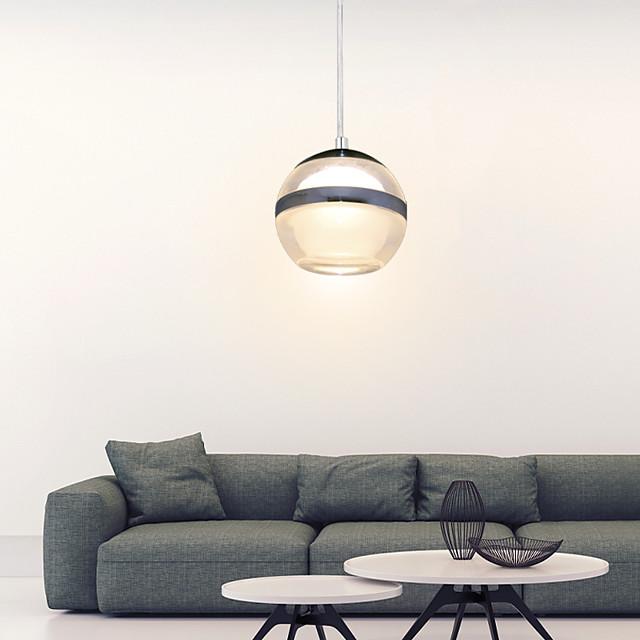 1 lumière 8cm (3,2 pouces) LED pendentif en métal acrylique globe chrome moderne contemporain 110-120v / 220-240v