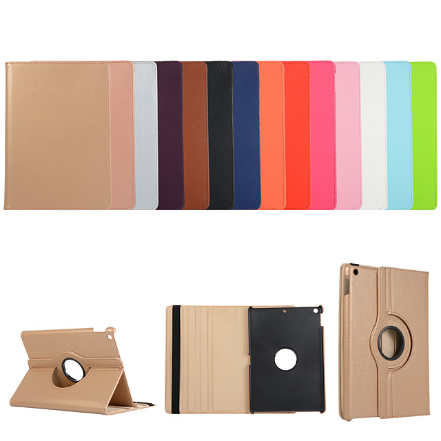 Case For Apple iPad Air iPad Air 2 Ipad air3 10.5 2019 2 3 4 ipad pro 10.5inch  10.2inch with Stand Flip Full Body Cases Solid Colored PU Leather TPU 360 Degree Rotating Protective Stand Cover