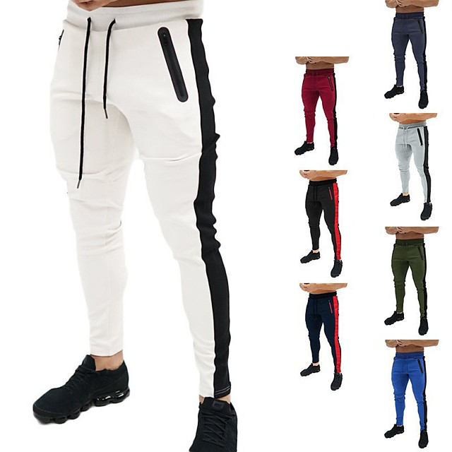 Men's Sweatpants Joggers Jogger Pants Track Pants Athleisure Bottoms Drawstring Winter Fitness Gym Workout Performance Running Training Breathable Quick Dry Soft Normal Sport White Black Blue Red