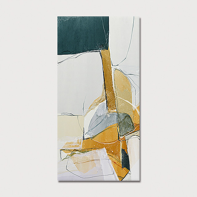 Oil Painting Hand Painted Abstract Modern Stretched Canvas With Stretched Frame