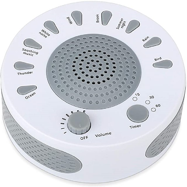 เครื่องเสียงสีขาว - เครื่องเสียงการนอนหลับสำหรับเด็กทารกผู้ใหญ่ - 9 เสียงที่ผ่อนคลายไฮไฟและตัวจับเวลา 3 ตัวควบคุมระดับเสียงและผ่อนคลายเครื่องนอนหลับสำหรับการเดินทางในสำนักงานที่บ้าน