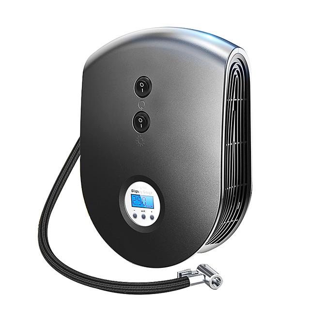 e26 trådlös kabel bärbar luftkompressor inflator pump dc 12v däck inflator atuo bil luftpump med digital display och ledljus för bilcykel