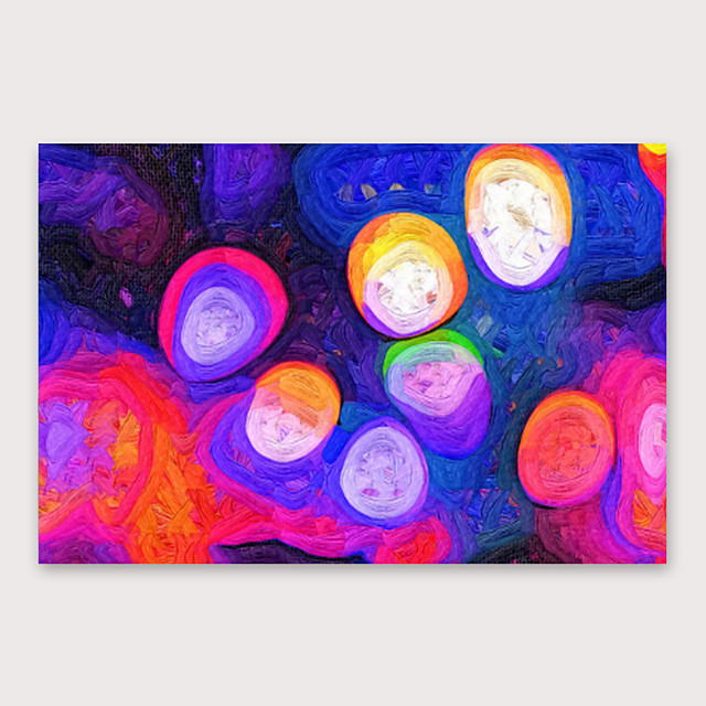 IARTS Hand Painted Neon Oil Painting with Stretched Frame For Home Decoration With Stretched Frame