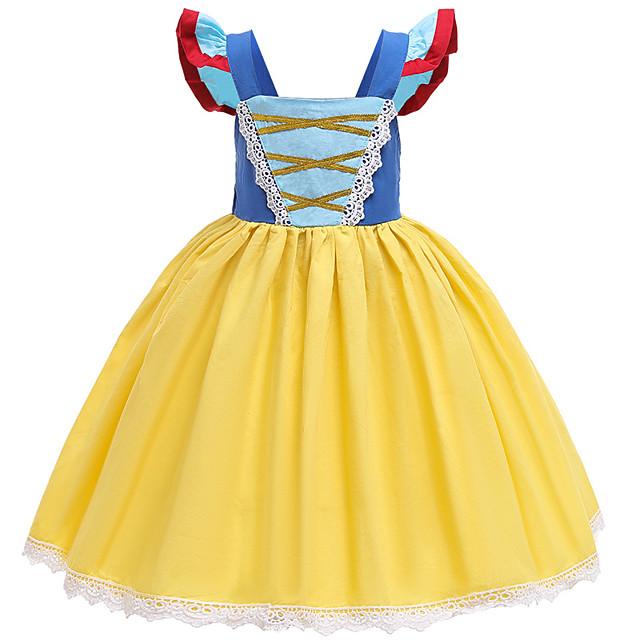 Princess Dress Girls' Movie Cosplay Vacation Dress Halloween Blue Dress Halloween Carnival Masquerade Polyester / Cotton