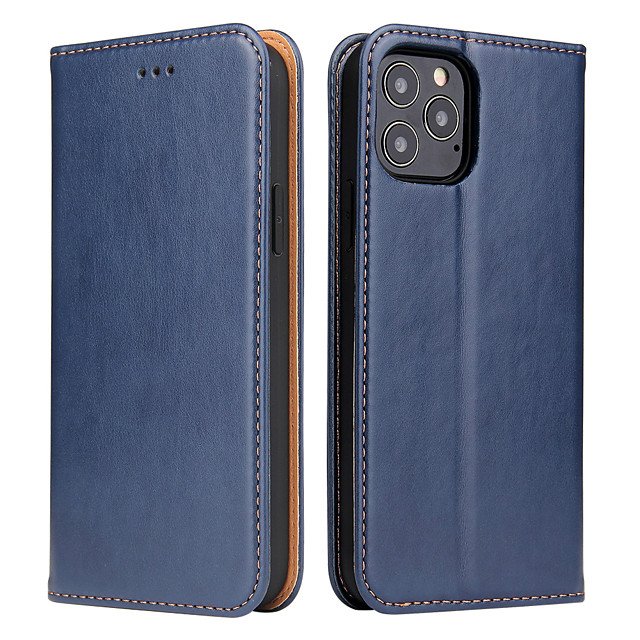 Case For Apple iPhone 11 / iPhone 11 Pro / iPhone 11 Pro Max Card Holder / Shockproof / Magnetic Full Body Cases Solid Colored PU Leather / TPU