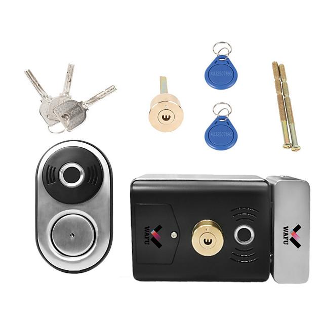 WAFU Smart Double Fingerprint Lock Stainless Steel Electric Lock Door Entry Intelligent Lock Low Power Reminder Smart Home Villa Office Access Control Security System(WF-014B)