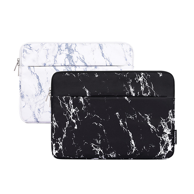 13.3 Inch Laptop / 14 Inch Laptop / 15.6 Inch Laptop Sleeve Polyester Marble for Women for Business Office for Colleages & Schools Waterpoof Shock Proof