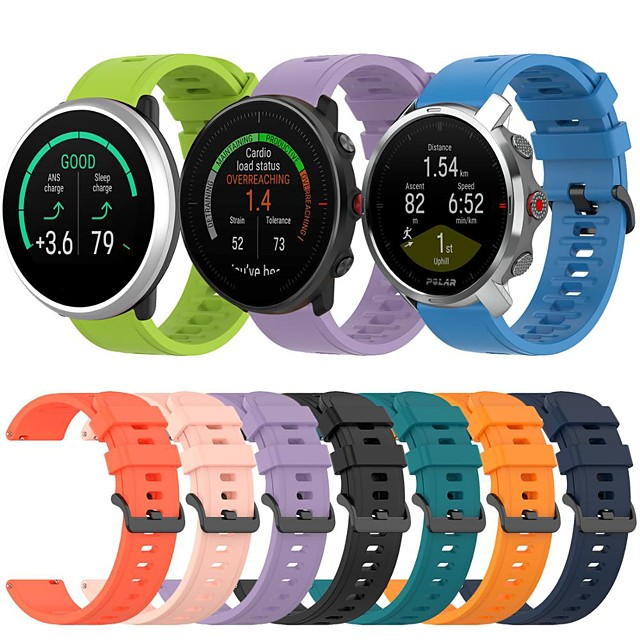 Sport Silicone Watch Band for Polar Vantage M / Grit X / Ignite Replaceable Bracelet Wrist Strap Wristband