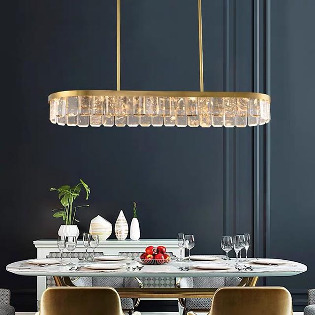 110 cm Island Design Chandelier Gold Pendant Light Crystal Modern 110-120V 220-240V