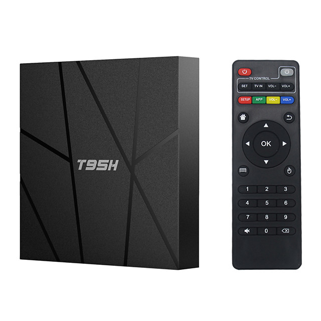 T95H Android 10.0 Smart Tv Box Allwinner H616 4GB RAM 32GB 64GB ROM 2.4G Wifi Bluetooth 6K HD Set Top Box Vs T95 TVBOX