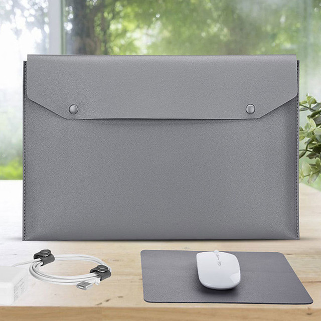11.6 Inch Laptop / 12 Inch Laptop / 13.3 Inch Laptop Sleeve PU Leather / PU Leather / Polyurethane Leather Solid Color Unisex Waterpoof Shock Proof