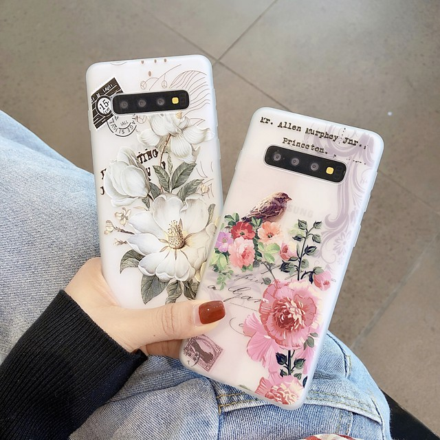 Case For Samsung Galaxy Note 8 9 10 10Plus J7 J7Prime J8 A5(2018) A8(2018) Ultra-thin Transparent Pattern Back Cover Animal Flower TPU