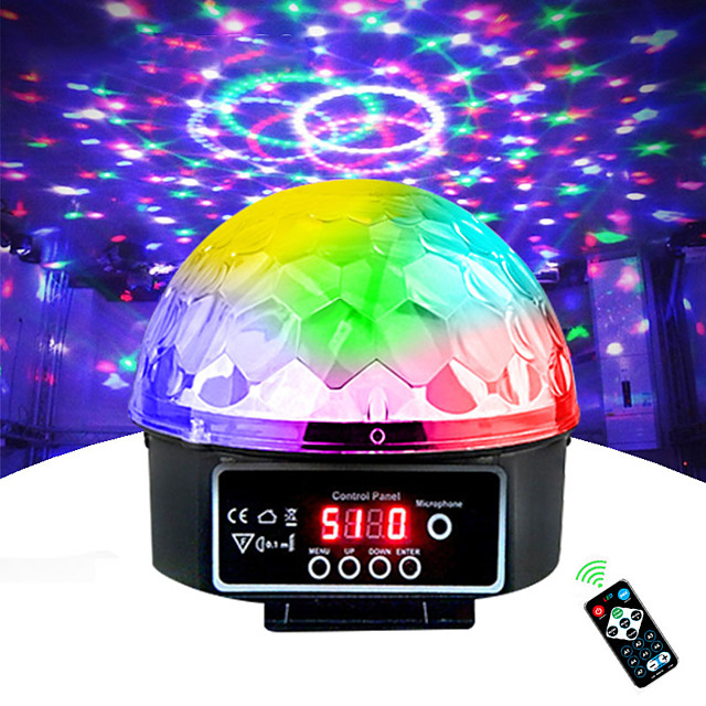 Stage Lamp Led Disco Light Laser 9 Colors 21 Modes DMX DJ Sound Party Light Christmas Projector Soundlights Led Disco Ball Light