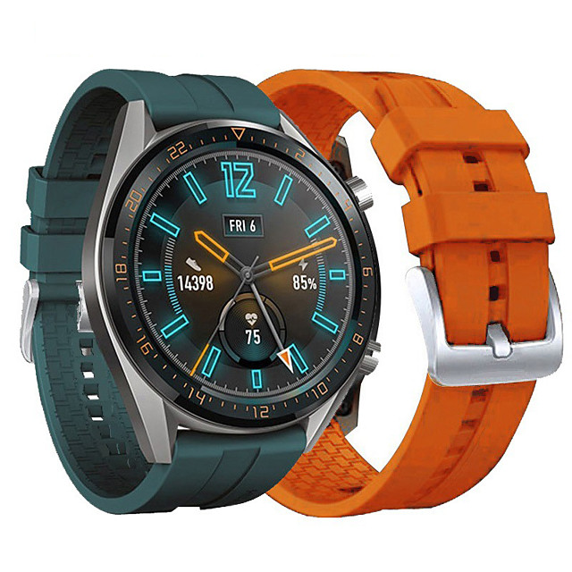 Watch Band for Huawei Watch GT 2 42MM Huawei Sport Band Silicone / Genuine Leather Wrist Strap