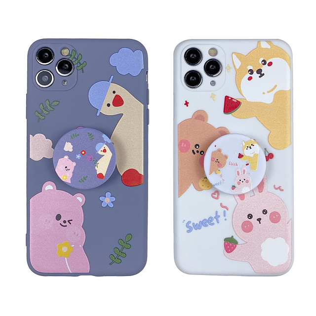 Case For iphone 7 8 7p 8p X XS MAX XR 11 11 PRO 11 PRO MAX   Pattern Back Cover Word  Phrase TPU cute with Stand