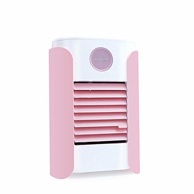 usb charging portable multi-function bluetooth air conditioner fan home refrigerator (pink)