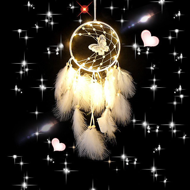 Dream Catcher Handmade Feather Bead Party Festival Hanging Decoration Ornament Gift Home Room Girl DIY Crafts Accessories