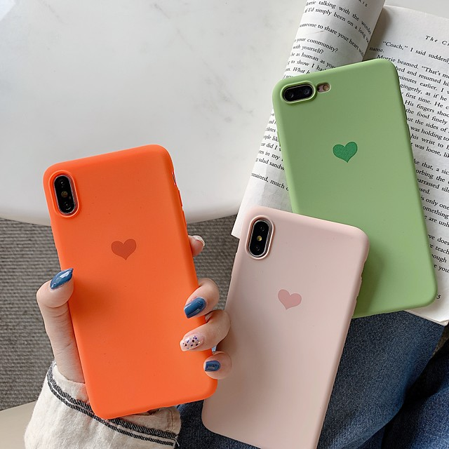 Case For Apple iPhone XR / iPhone XS Max Pattern Back Cover Heart Soft TPU for iPhone X XS 8 8PLUS 7 7PLUS 6 6S 6PLUS 6S PLUS