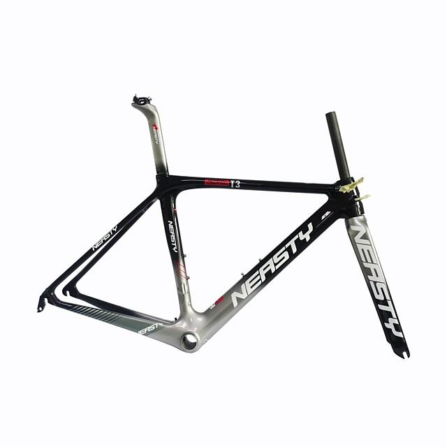 Vägram Kolfiber Cykel Ram # Glansig UD cm tum