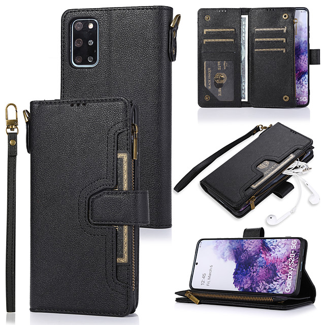 Case For Samsung Galaxy Note 8 Note 9 Note 10 A10 A30 A20 A40 A50 A50S A30S A70 A70S Card Holder Flip Magnetic Full Body Cases Solid Colored PU Leather