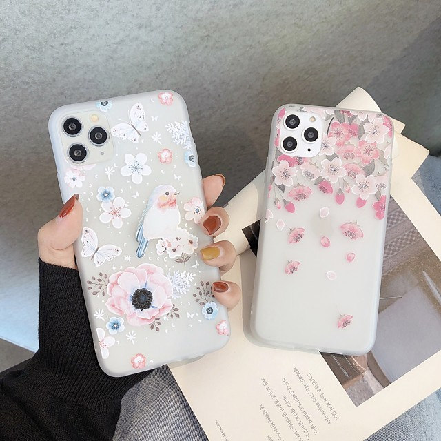 Case For iPhone 5 5C 5S SE 6 6s 7 8 6plus 6splus 7plus 8plus X XR XS XSMax SE(2020) iPhone 11 11Pro 11ProMax Ultra-thin Transparent Pattern Back Cover Butterfly Animal Flower TPU