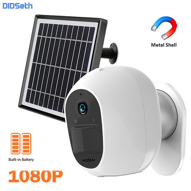 DIDSeth 3.3W Solar WiFi Camera 1080P Outdoor Wireless Security Camera Metal Shell Magnet Bracket 2MP HD Battery Powered PIR Cam