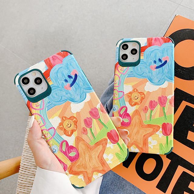 Case For Apple iPhone 7 7Plus iPhone 8 8Plus iPhone X iPhone XS XR XS max iPhone 11 11 Pro 11 Pro Max SE Pattern Back Cover Cartoon TPU