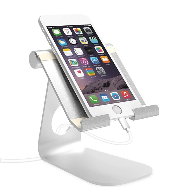 Montaje para Soporte de Teléfono Escritorio iPad Teléfono móvil Tableta Plegable Soporte Ajustable Ajustable Aleación de aluminio Accesorio para Teléfono Móvil iPhone 12 11 Pro Xs Xs Max Xr X 8