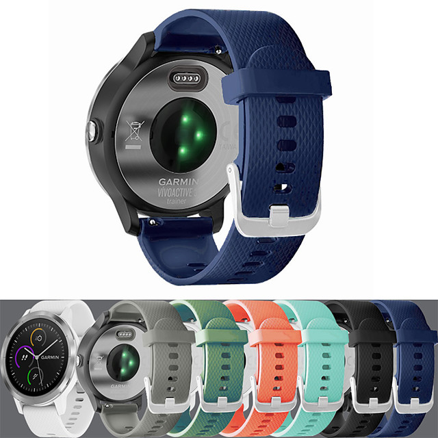 Silicone strap 20mm for Jiaming vivoactive 3 Samsung Galaxy watch42mm
