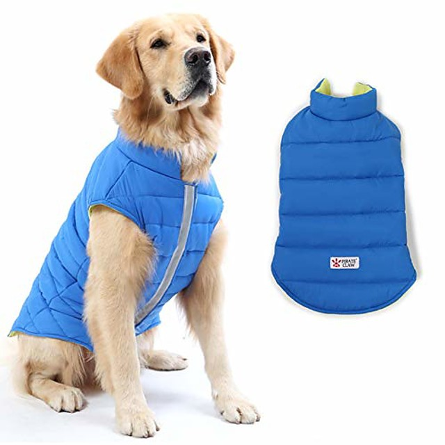 reversible dog winter coat, dog apparel for cold weather,pet windproof cloth dogs warm classic soft vest jackets,puppy warm winter coats for small medium large dogs
