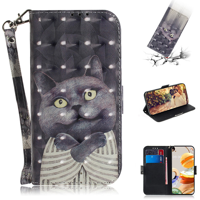 Case For LG LG Stylo 5 Q8 G8 ThinQ Q Stylo 4 V40 ThinQ Q8 (2018) K50 Q60 W10 K40S K41S K51S K61 Card Holder Flip Pattern Full Body Cases Animal PU Leather