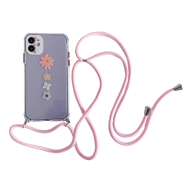Case For Apple iPhone 11 / iPhone 11 Pro / iPhone 11 Pro Max Pattern Back Cover Transparent / Flower TPU