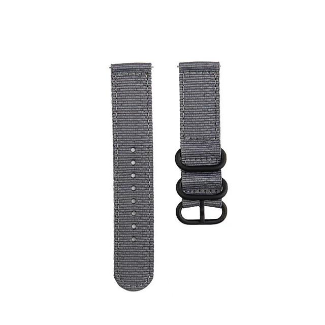 Fashion Watch Band Nylon Strap Black 3 Rings Buckle For TicWatch Pro / TicWatch S2 / TicWatch E2 TicWatch Sport Band / Classic Buckle / Business Band Nylon Wrist Strap