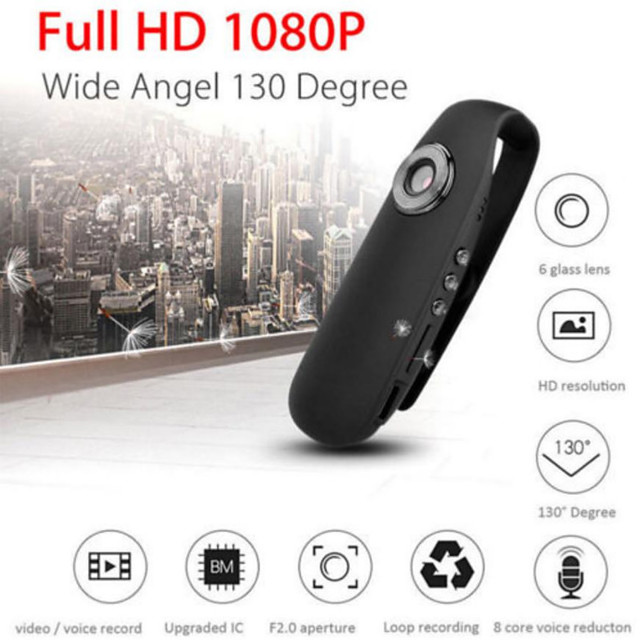 HD 1080P Mini Camcorder Dash Cam Police Body Motorcycle Bike Motion Camera Motion Detection Portable Built-in Magnet Camera